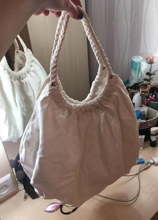 Сумка белая тканевая хлопковая холщовая большая мешок спортивная вместительная торба