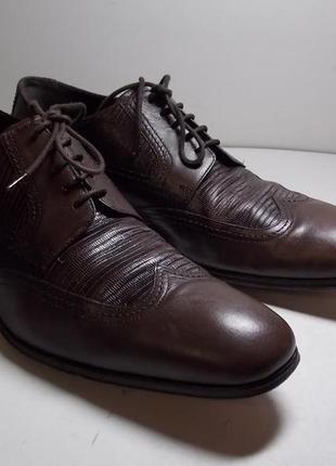 Кожаные туфли gollezion (италия) 46 р (стелька- 31 см).