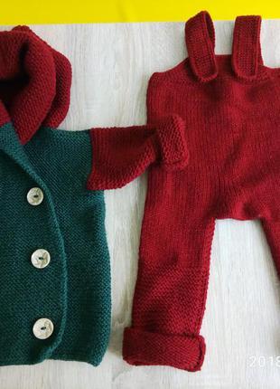 вязаные костюмы для малышей 2019 купить недорого вещи в интернет