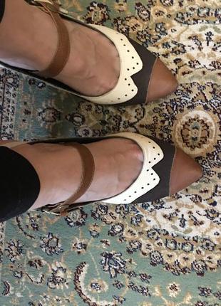 Кожаные туфли mascotte 39 размер