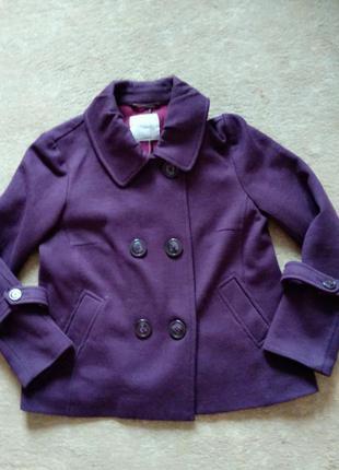 Шерстяной пиджак свободного кроя