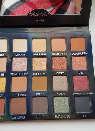 * бесплатная доставка тени для век violet voss x laura lee eyeshadow palette 20 цветов