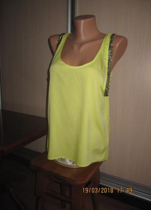 Яркая шифоновая блузка майка suiteblanco индия размер s