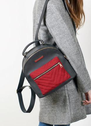 Женский мини рюкзак нубук