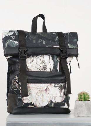 Женский городской рюкзак roll floral