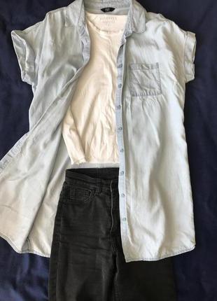 Удлиненная рубашка; подовжена рубашка