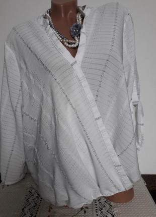 Блуза на запах большого размера