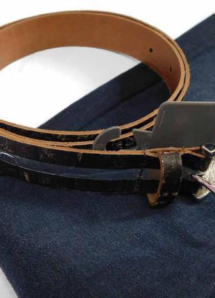 Натуральный кожаный пояс, ремень broadway, 3 размера.