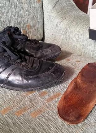 Кеды ботинки кожаные geox 41-42 размер, 26,5-27 см, 26 см