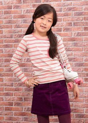 Вельветовая юбочка для подростка от тсм tchibo размер 110-116 и 158-164 смотрите замеры