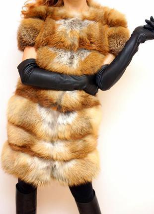 Пушистая жилетка из лисы