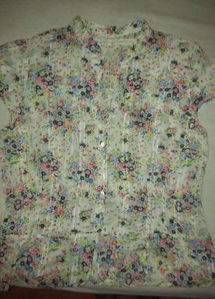 Батистовая блузка рубашка хлопок - то, что надо на лето