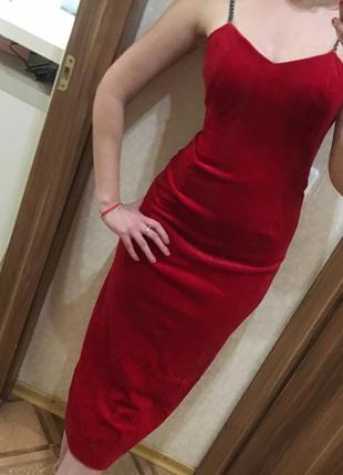 Роскошное дизайнерское платье бархатное красное изысканное вечернее лондон