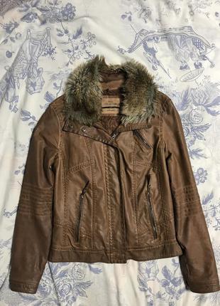 Куртка косуха кожа bershka
