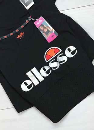 Чёрный крутой топ /футболка ellesse