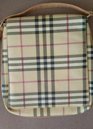 Сумка женская / сумка с длинной ручкой под burberry/ сумка летняя