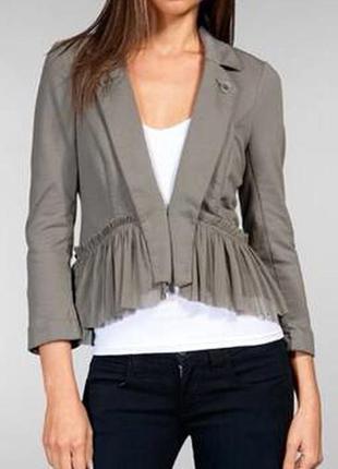 Стильный оригинальный пиджак/ жакет с рюшами от бренда free people