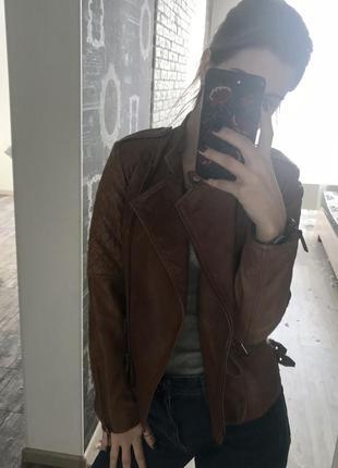 Кожанная куртка mango
