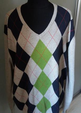 Брендовый свитер реглан кашемир tommy hilfiger раз. xxl -54-56-58