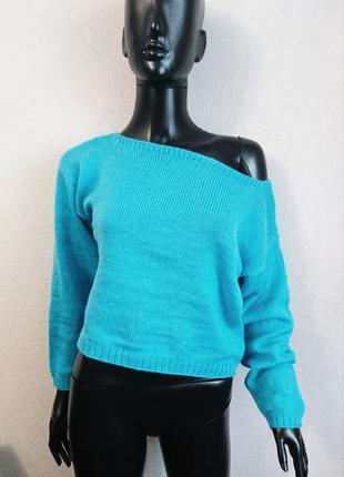 Модный молодёжный свитер из мохера