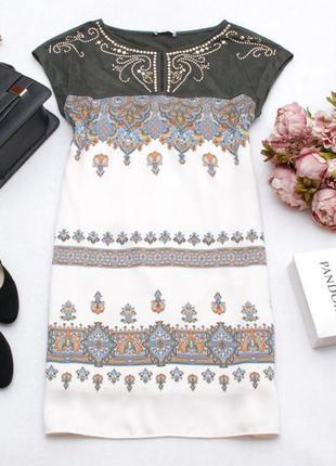 Платье-туника прямого кроя с замшевой верхней частью promod 10uk