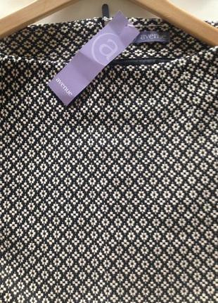 Новая плотная гобелен чёрно- белая мини юбка uk 14 от аvenue