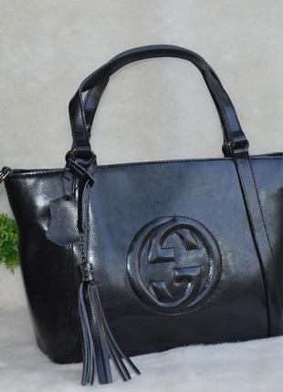 Элитная женская кожаная сумка гучи.