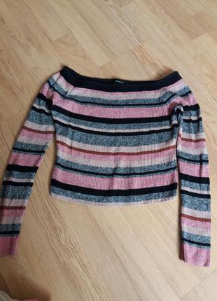 Укороченный свитер в рубчик от new look