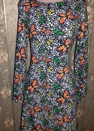 Платье - туника принт бабочки atmosphere