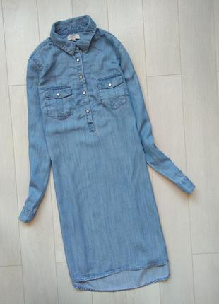 Джинсовое платье миди рр.s-m