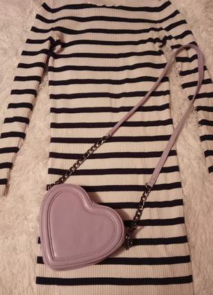 Плаття міді в рубчик в полоску selected femme № 243 фото