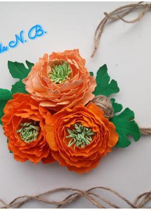 Пасхальний декор. квіти на пасхальний кошик.