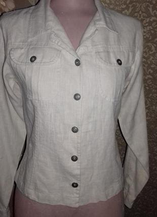 Льняной пиджак рубашка