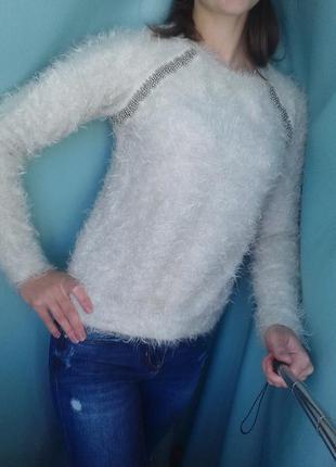 Теплый свитер -  свитшот, м