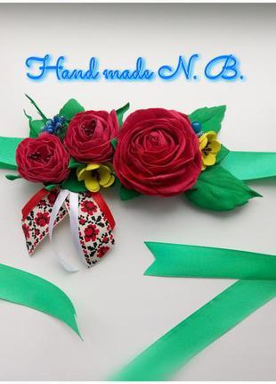 Пасхальний декор. квіти на кошик