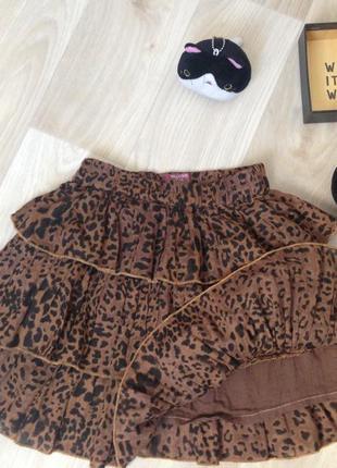 Стильная юбка с леопардовым принтом