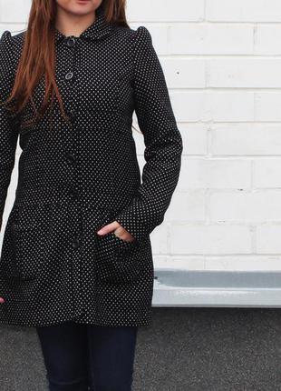 Zara весеннее шерстянное пальто
