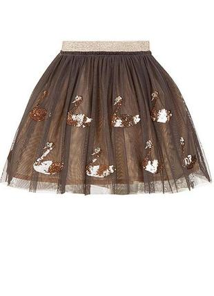 Пышная юбка с пайетками