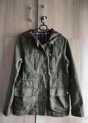 Стильная куртка хаки, ветровка в стиле милитари от topshop