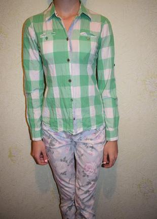 Яркая фирменная рубашка. tom tailor