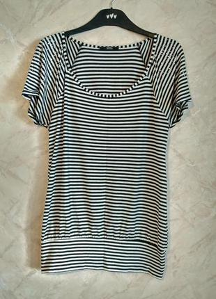 Полосатая нарядная футболка от marks & spencer
