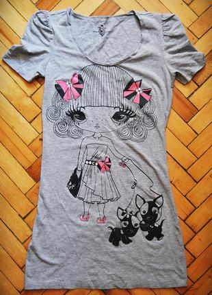 Трикотажное мини-платье со стразами