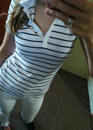 Полосатая футболка поло от c&a