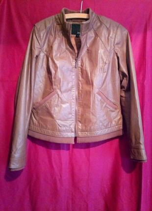 Кожаная куртка (натуральная кожа) asos