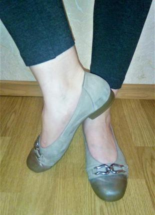 Фирменные, кожаные ортопедические туфельки! стелька 25 см