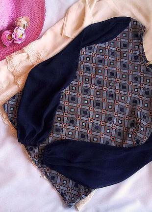 Трендова блуза new look 12/l 10/m в геометричний орнамет
