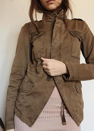 Куртка жакет пиджак zara basic  тренч коат