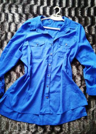 Синя блузка. великий розмір - xxxl