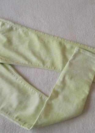Красивые салатовые брюки джинсы skinny denim co узкачи новые фирменные