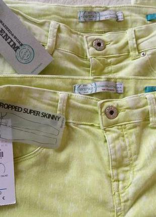 Красивые салатовые брюки джинсы skinny denim co узкачи новые фирменные4 фото